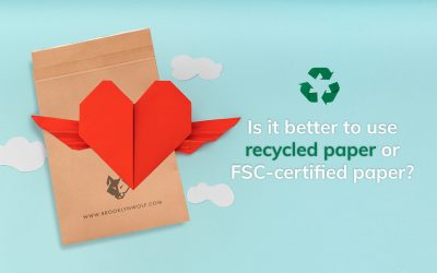 Is it better to use recycled paper or FSC-certified paper?